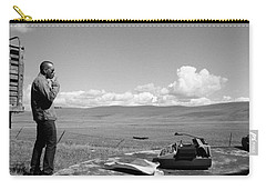Carry-all Pouch featuring the photograph Office Of The Poet by Carl Young