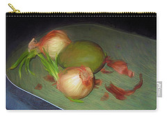 Carry-all Pouch featuring the mixed media Old Onions And Peels, Stylized by Lynda Lehmann