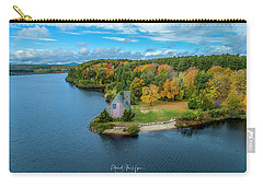 Carry-all Pouch featuring the photograph Old Stone Church by Michael Hughes