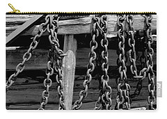Old Wood And Chains Bw Carry-all Pouch