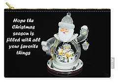 Carry-all Pouch featuring the photograph Old World Santa And His Hopes For The Christmas Season by Kay Brewer