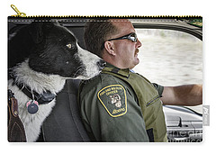 Carry-all Pouch featuring the photograph On Patrol by Brad Allen Fine Art