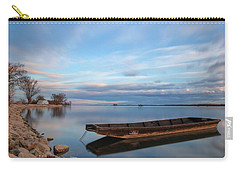 Carry-all Pouch featuring the photograph On The Shore Of The Lake by Davor Zerjav