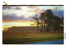 Carry-all Pouch featuring the photograph Onc Open Road Sunrise by Cindy Lark Hartman