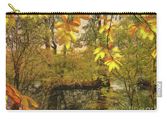 Carry-all Pouch featuring the photograph Once A Pond A Time by Leigh Kemp