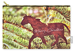 Carry-all Pouch featuring the photograph One Horse Open Sleigh Quote by Jamart Photography