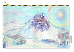 Carry-all Pouch featuring the painting Optical Phenomenon - Halo by Dobrotsvet Art