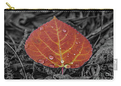 Orange Aspen Leaf Carry-all Pouch