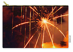 Orange Fireworks Carry-all Pouch