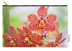 Orange Spotted Orchids Carry-all Pouch