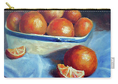 Oranges And Blue Carry-all Pouch