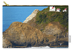 Carry-all Pouch featuring the photograph Oregon Coast Heceta Head Lighthouse 116 by Rospotte Photography