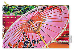 Oriental Pink Parasol Carry-all Pouch