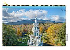 Carry-all Pouch featuring the photograph Original Meeting House Jaffrey Nh by Michael Hughes
