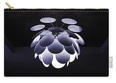 Carry-all Pouch featuring the photograph Ornamental Ceiling Light Fixture - Blue by Debi Dalio