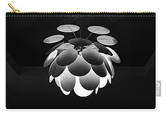 Carry-all Pouch featuring the photograph Ornamental Ceiling Light Fixture - Grayscale by Debi Dalio