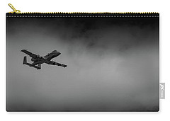 Carry-all Pouch featuring the photograph Out Of The Clouds - A-10c Thunderbolt by Doug Camara