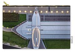 Carry-all Pouch featuring the photograph Over Milwaukee Art Museum by Randy Scherkenbach