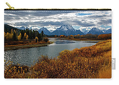 Carry-all Pouch featuring the photograph Oxbow Bend by Scott Read
