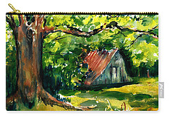 Ozarks Barn In Boxley Valley - Late Summer Carry-all Pouch