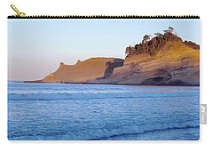Carry-all Pouch featuring the photograph Pacific City Cape Kiwanda Morning by Rospotte Photography