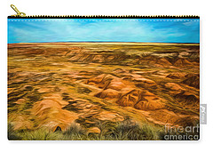 Carry-all Pouch featuring the photograph Painted Desert Far View by Jon Burch Photography