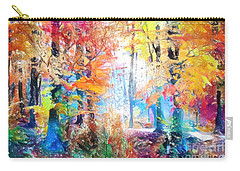 Carry-all Pouch featuring the painting Painted Forest by Chris Armytage