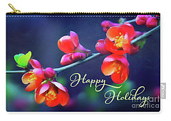 Painted Quince Blossoms Winter Holiday Art Carry-all Pouch