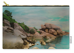 Painted Rocks At Full Tide Carry-all Pouch