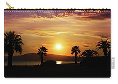 Carry-all Pouch featuring the photograph Palm Beach In Greece by Milena Ilieva