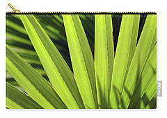 Carry-all Pouch featuring the photograph Palm Portrait II by Leda Robertson