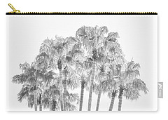 Palm Tree Grove In Black And White Carry-all Pouch