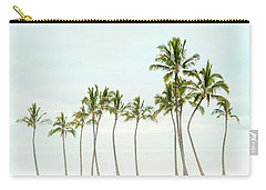 Palm Tree Horizon In Color Carry-all Pouch