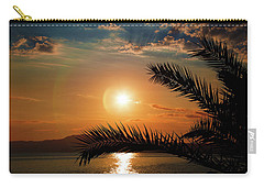 Carry-all Pouch featuring the photograph Palm Tree On The Beach by Milena Ilieva