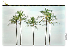 Palm Trees On The Beach Carry-all Pouch