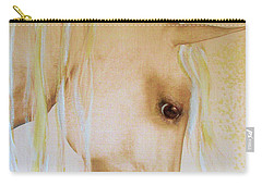 Carry-all Pouch featuring the painting Palomino Head Study by Valerie Anne Kelly