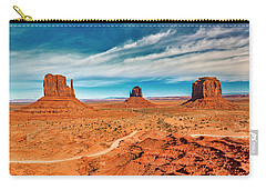 Carry-all Pouch featuring the photograph Panoramic Monument Valley by Andy Crawford