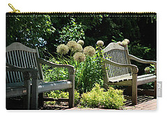 Park Benches At Chicago Botanical Gardens Carry-all Pouch