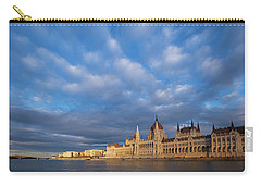 Carry-all Pouch featuring the photograph Parliament On The Danube by Davor Zerjav