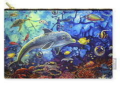 Past Memories New Beginnings Dolphin Reef Carry-all Pouch