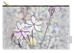 Carry-all Pouch featuring the photograph Pastel Paper Daisies by Elaine Teague