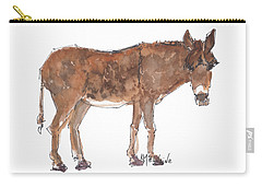 Pasture Boss 2015 Watercolor Painting By Kmcelwaine Carry-all Pouch