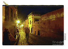 Carry-all Pouch featuring the photograph Patzcuaro Street by Rosanne Licciardi