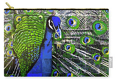 Carry-all Pouch featuring the painting Peacock by Dustin Miller
