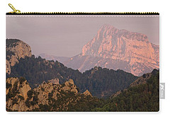 Carry-all Pouch featuring the photograph Pena Montanesa Sunset Panorama by Stephen Taylor