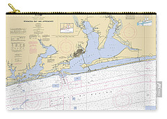 Pensacola Bay And Approaches Noaa Chart 11382 Carry-all Pouch