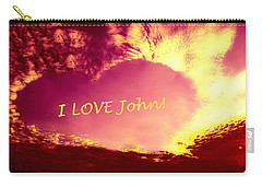 Personalized Heart For John Carry-all Pouch