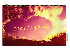 Personalized Heart I Love Sophia Carry-all Pouch
