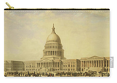 Perspective Rendering Of United States Capitol Carry-all Pouch