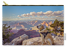 Carry-all Pouch featuring the photograph Photo Dog Jackson At The Grand Canyon by Matthew Irvin